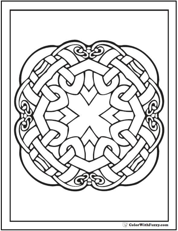 90 Celtic Coloring Pages Irish Scottish Gaelic Knot DesignsPrintable