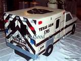 Image detail for -Fondant covered chocolate Ambulance cake with white chocolate moouse filling. Served 240 guests!