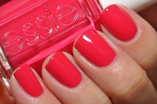 Summer, fresh, essie, Nails, nailart, raspberry red