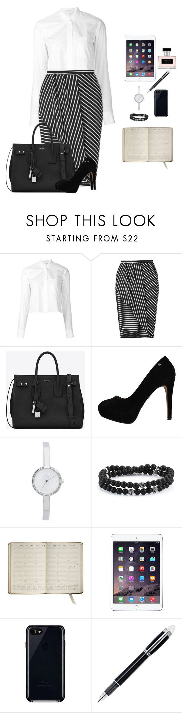"""Business look"" by monika1555 on Polyvore featuring Helmut Lang, Miss Selfridge, Yves Saint Laurent, DKNY, Graphic Image, Belkin, Montblanc and Ralph Lauren"