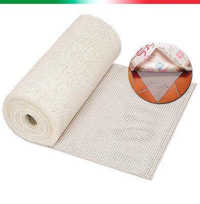 RETE ANTISCIVOLO per tappeti varie misure lattice di gomma rotoli h 60cm h 120cm