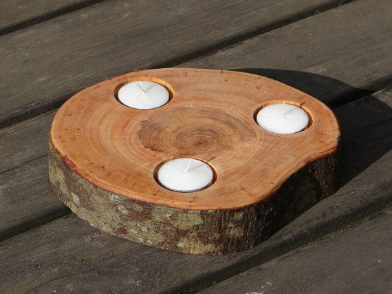 wooden candle holder by Woodur