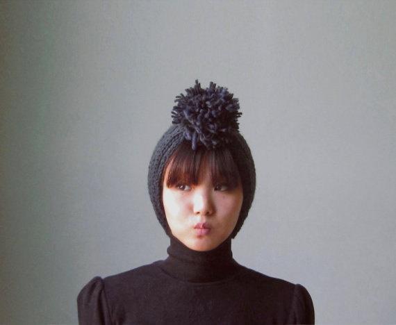 pom pom knit headbandPom Pom