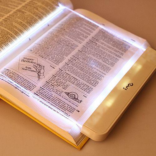 Practical LED Book Light Magic Night Vision Light LED Reading Book Flat Plate Portable Car Travel Panel Fashion Night Light #Affiliate