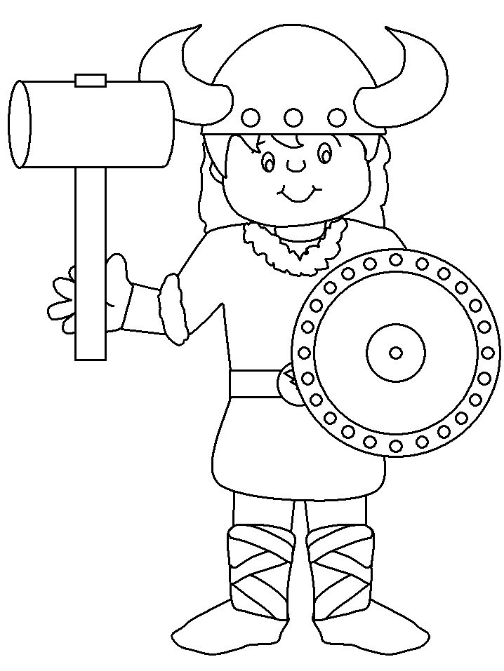 coloring pages for kids Norway | Norway Viking Countries Coloring Pages & Coloring Book