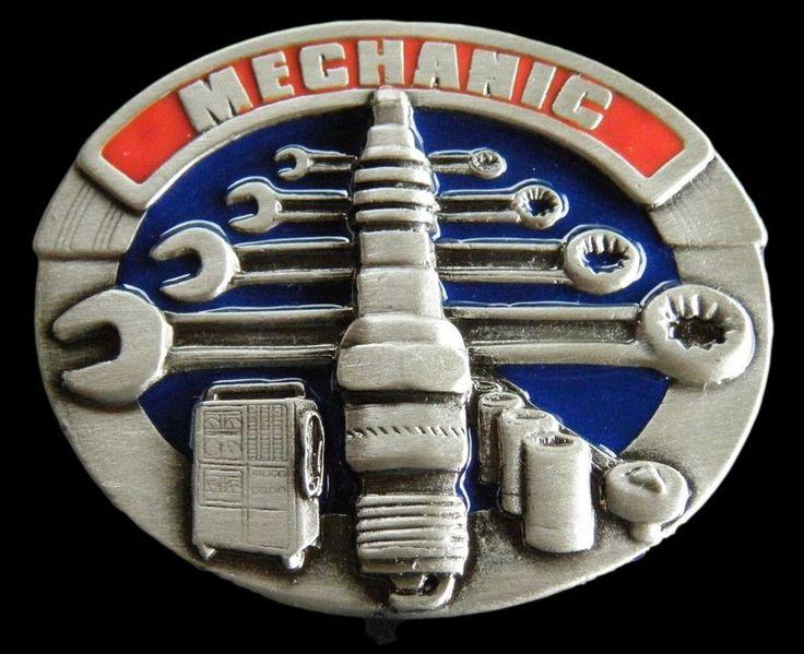 Garage Mechanic Truck Motor Engine Tools Belt Buckle Boucle de Ceintures #mechanic #tools #buckle #beltbuckles