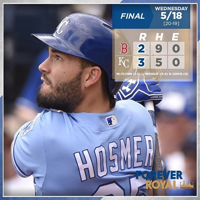 @hosmer305 goes yard in 2nd straight game as #Royals take Game 1 of the doubleheader.