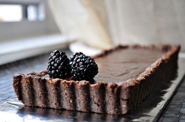 Hazelnut Chocolate Tart by kalina813, via Flickr