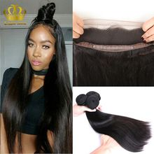Mongolian 360 straight lace frontal with bundles 8A Mongolian straight rosa hair products 360 lace frontal closure with bundles