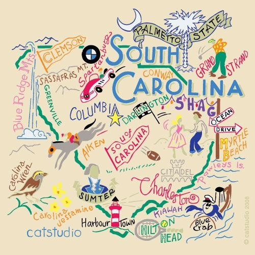 I LOVE South Carolina! I am SO thankful for the many days and summers that I have spent at my grandparents' condo at the beach, and the many more days that I plan to spend!!! Also, I am SO thankful for FOUR FABULOUS years of college spent at the BEST college in the WORLD, USC!!!!!!! GO GAMECOCKS!!