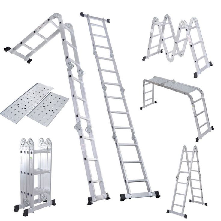 15 5 Ft Multi Purpose Aluminum Folding Step Platform Scaffold Ladder Multi Purpose Ladder Scaffold Ladder Ladder