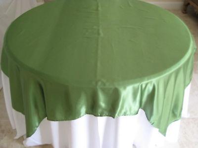 10 72 x 72 Satin Wedding Overlay Clover Green   eBay