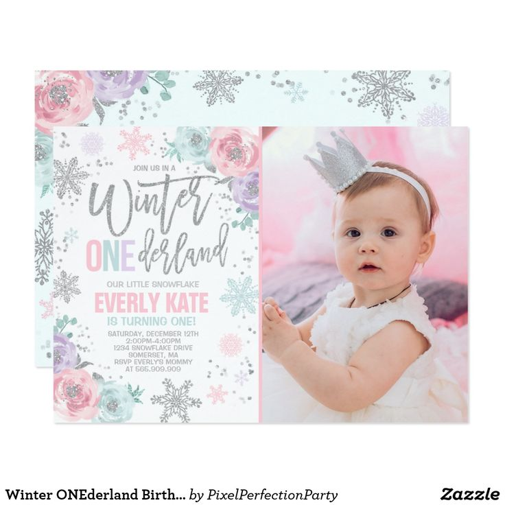 152 best First Birthday Invitations Ideas images on Pinterest ...