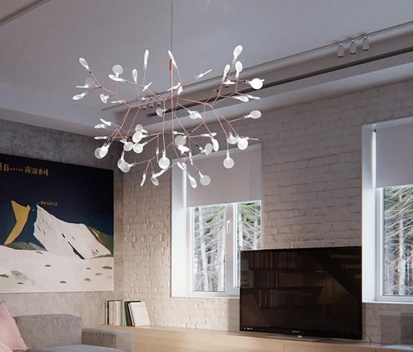 Modern Led Olive Branch Chandelier Warmly Branch Chandelier Modern Chandelier Foyer Luxury Lighting