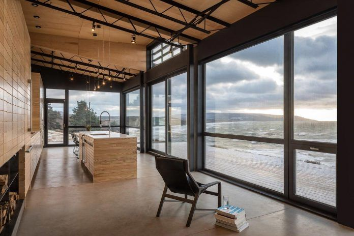The Private Side Of A House In Canada Opens To The Views Of The Atlantic