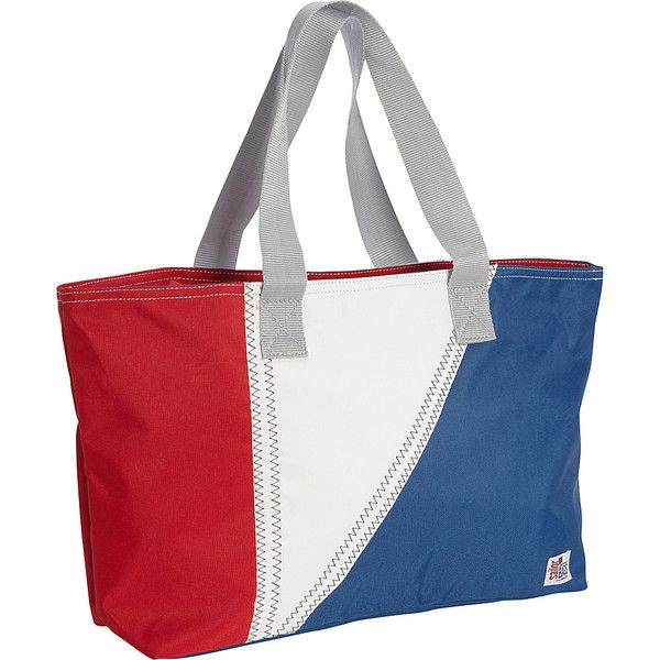 SailorBags TriSail Tote - TriColor - Red/White/Blue - All Purpose... ($53) ❤ liked on Polyvore featuring bags, handbags, tote bags, white, red tote, zipper tote, travel tote, handbags totes and beach tote bags