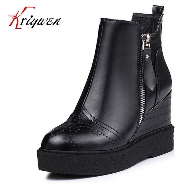 Ucuz 2017 Yeni Güz kış siyah mavi Platformlar Ayakkabı çift zip kadın ayak bileği Çizmeler takozlar yuvarlak ayak rahat femmes eğlence ayakkabı, Satın Kalite bayan botları doğrudan Çin Tedarikçilerden:     2015 sandalet2015 pompalar2015 flats 2016 sandalet2016 pompalar2016 flats2015 çizmeler2016 çizmele
