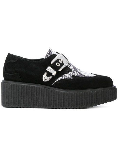Achetez McQ Alexander McQueen chaussure à plateforme à détail serpent.