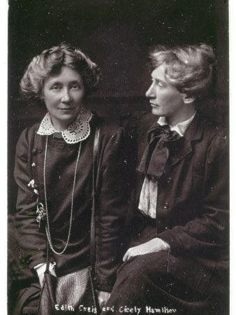 Lesbian suffragettes Edith Craig and Cicely Hamilton, date unknown.