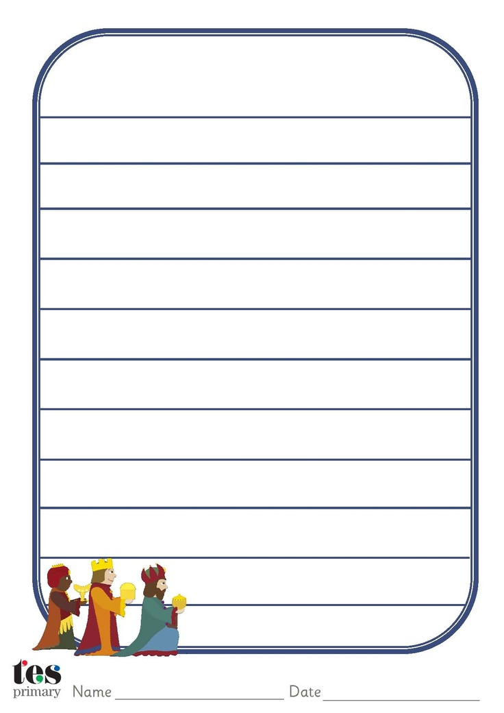 Themed, decorated paper that can be used as part of Christmas themed activities within the classroom. 3 designs. Lined and unlined versions. Portrait orientation