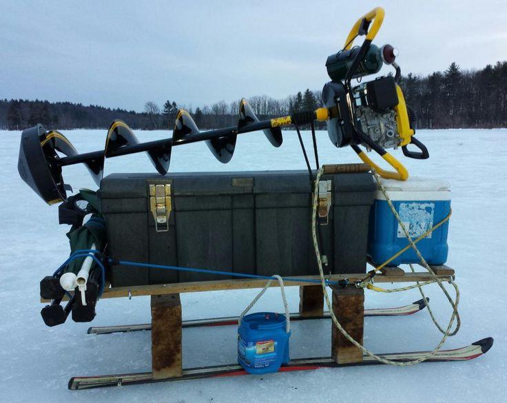 7 ice fishing pinterest for Ice fishing sled ideas