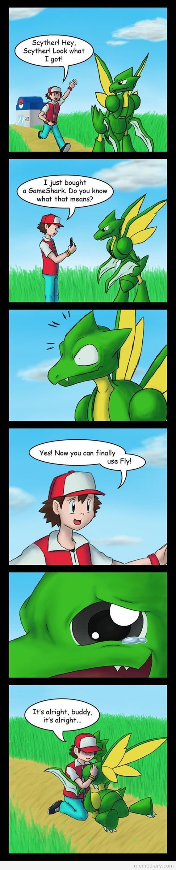 Scyther's dream comes true #scyther #cartoon #meme #funnymeme