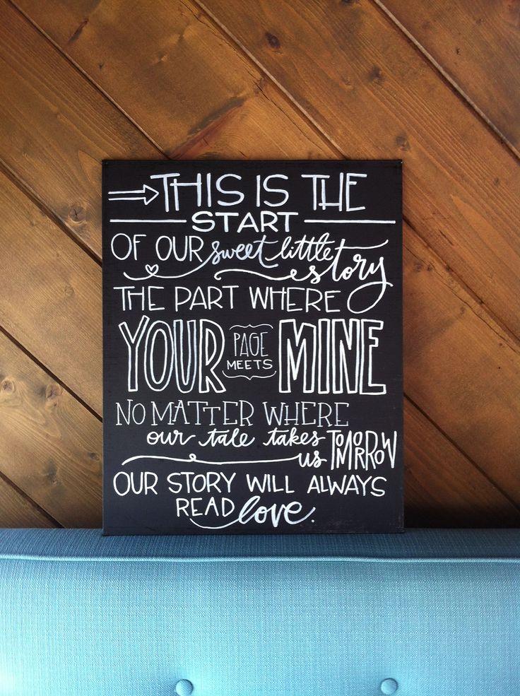 Quote In White On Black Canvas Board