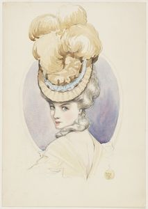 18th century lady, nd, watercolour drawing made by May Gibbs during her student years in London. From the collections of the Mitchell Library, State Library of New South Wales www.sl.nsw.gov.au...
