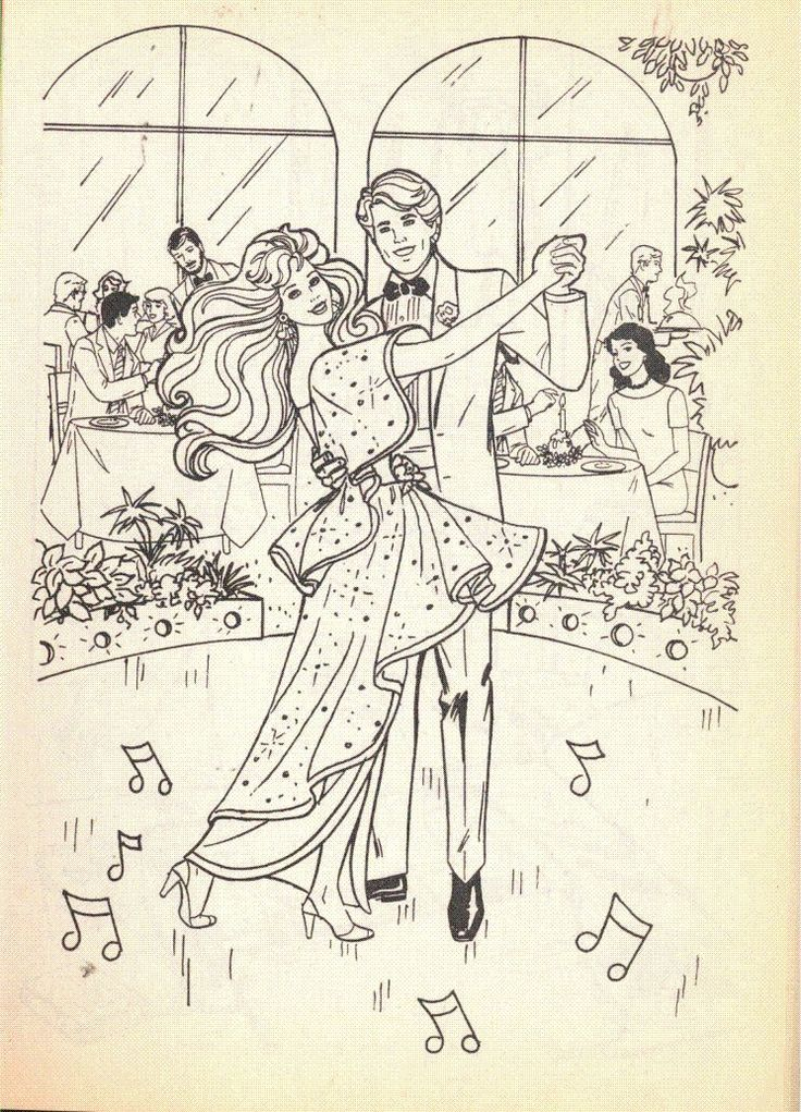 Retro Barbie Coloring Pages : Vintage barbie coloring book by golden