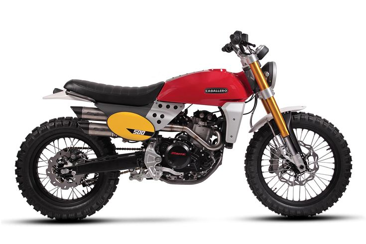 The 2017 Fantic Caballero, soon available with 125, 250 or 500cc engines. And two styles: flat track or scrambler (shown here).