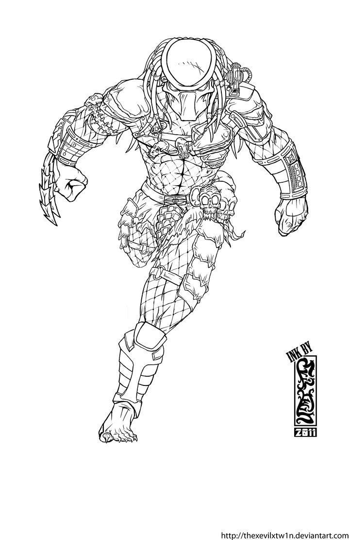 Predator Coloring Pages Predator Artwork Predator Art Robots Drawing