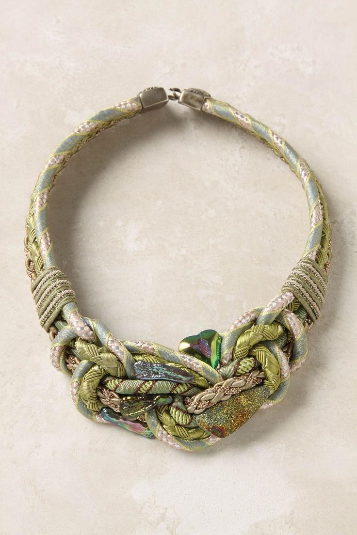 Anthropologie: knotted pyrite choker