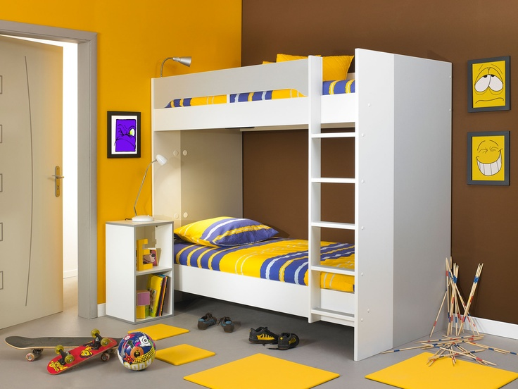 Stylish And Simple Bunk Beds In A White And Grey Finish. A Truly Designer  Look