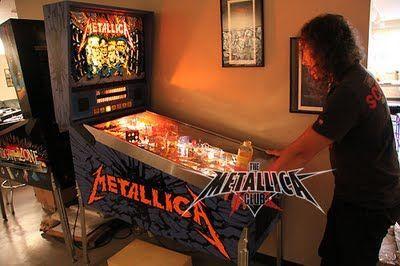 Kirk hammett metallica rockstar pinball machines for Kirk hammett house