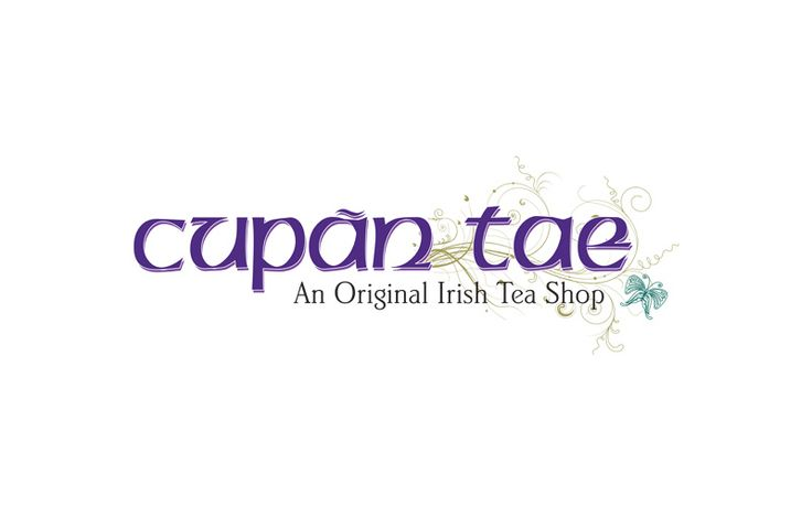 This is a logo we designed for Cupan Tae, a cosy little tea shop near the banks of the river Corrib in Galway city.