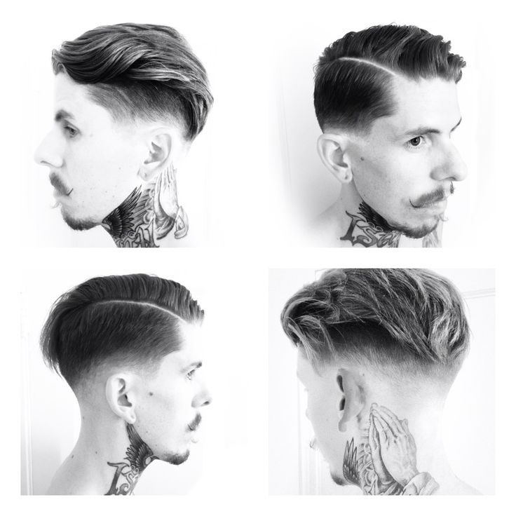 Men hairstyles fade spike bald fade with spiky top haircuts pinterest - A Modern Classic Haircut With A Side Part By Joel Torres