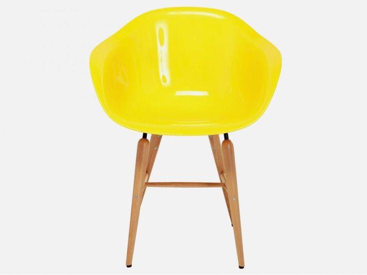 Krzesło Forum Wood II żółte — Krzesła Kare Design — sfmeble.pl #yellow #design #chair