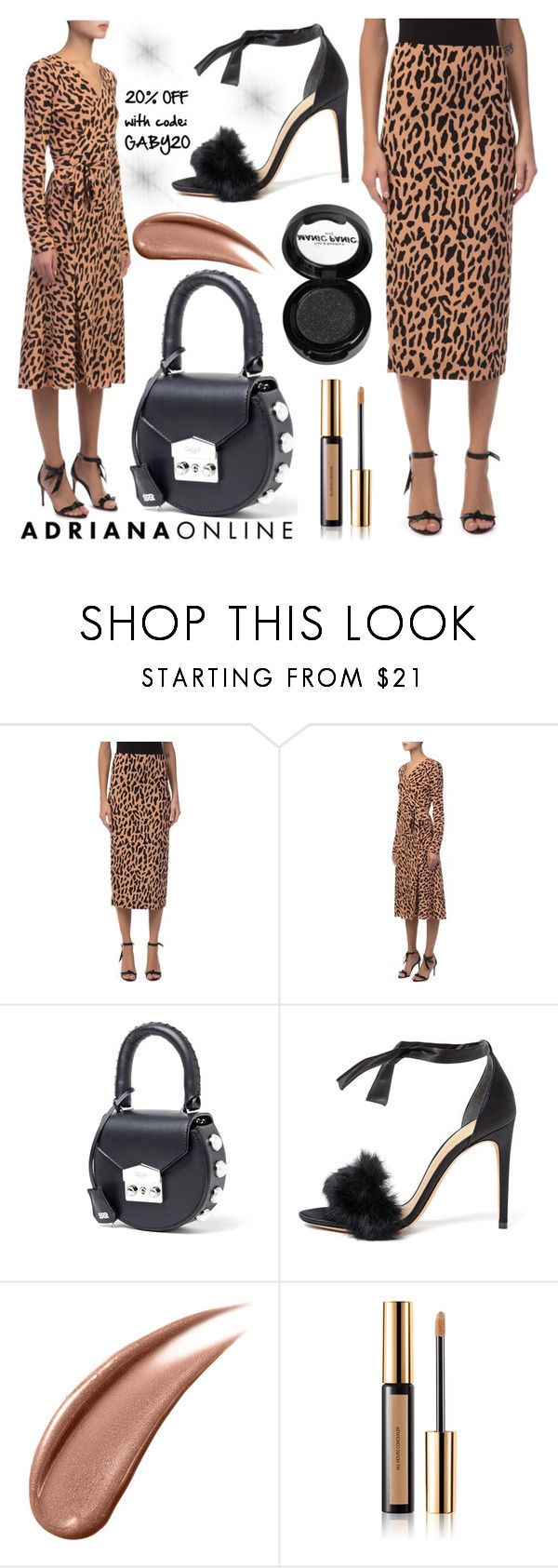 """ADRIANA ONLINE: Tailored Style"" by gaby-mil ❤ liked on Polyvore featuring Diane Von Furstenberg, Alexandre Birman, Yves Saint Laurent and Manic Panic NYC"