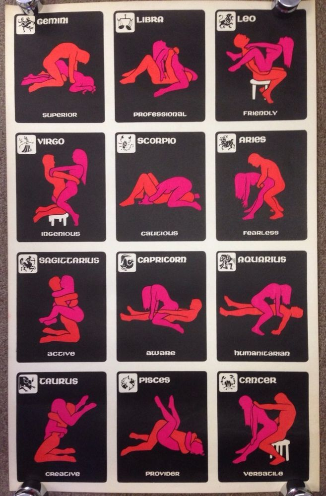 Zodiac Sex Positions Poster 25