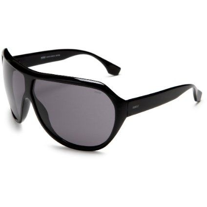 HUGO by Hugo Boss Men`s 0050 Sunglasses,Black Frame/Smoke Lens,one size