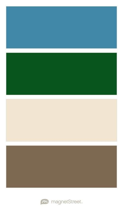 Monaco, Hunter, Champagne, and Latte Wedding Color Palette - custom color palette created at MagnetStreet.com