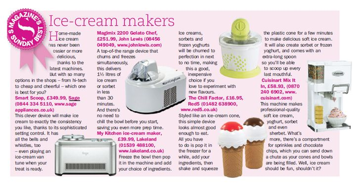 The Sage Smart Scoop Ice Cream Maker has 12 different settings and even plays music when your ice-cream is done! http://www.sageappliances.co.uk/the-smart-scoop.html
