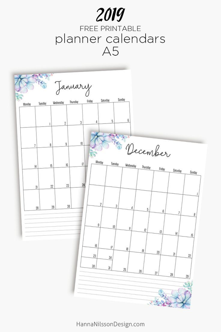 Free Yearly Calendar With Images Planner Calendar Printables