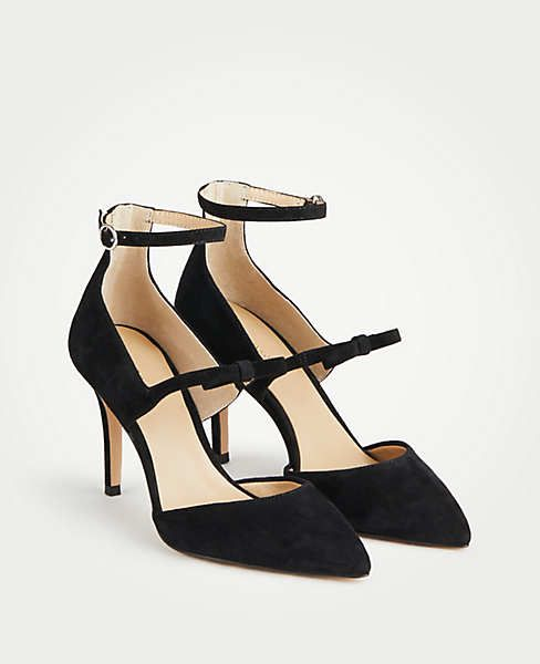 c449cd89c The cutest strappy black pumps for the holidays!