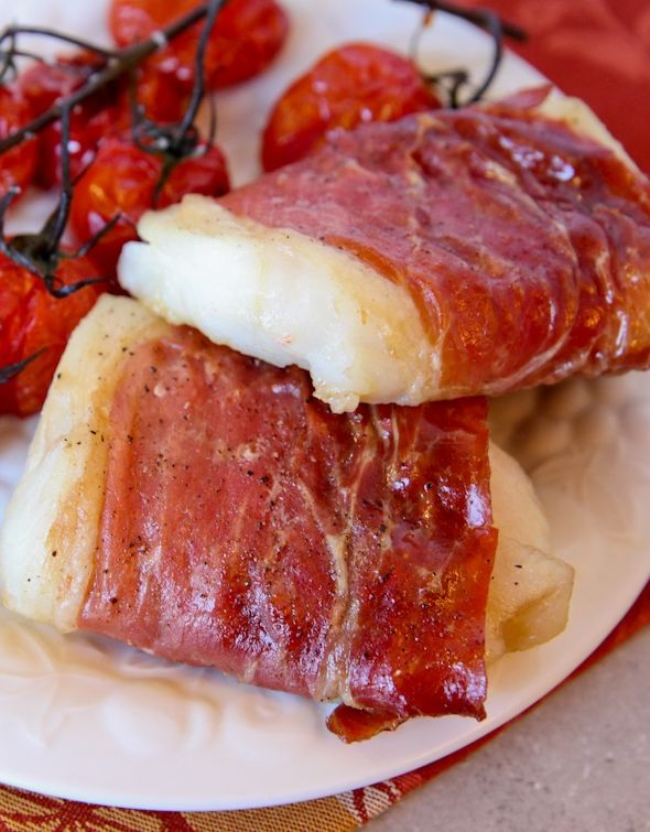Baked Prosciutto-Wrapped Cod