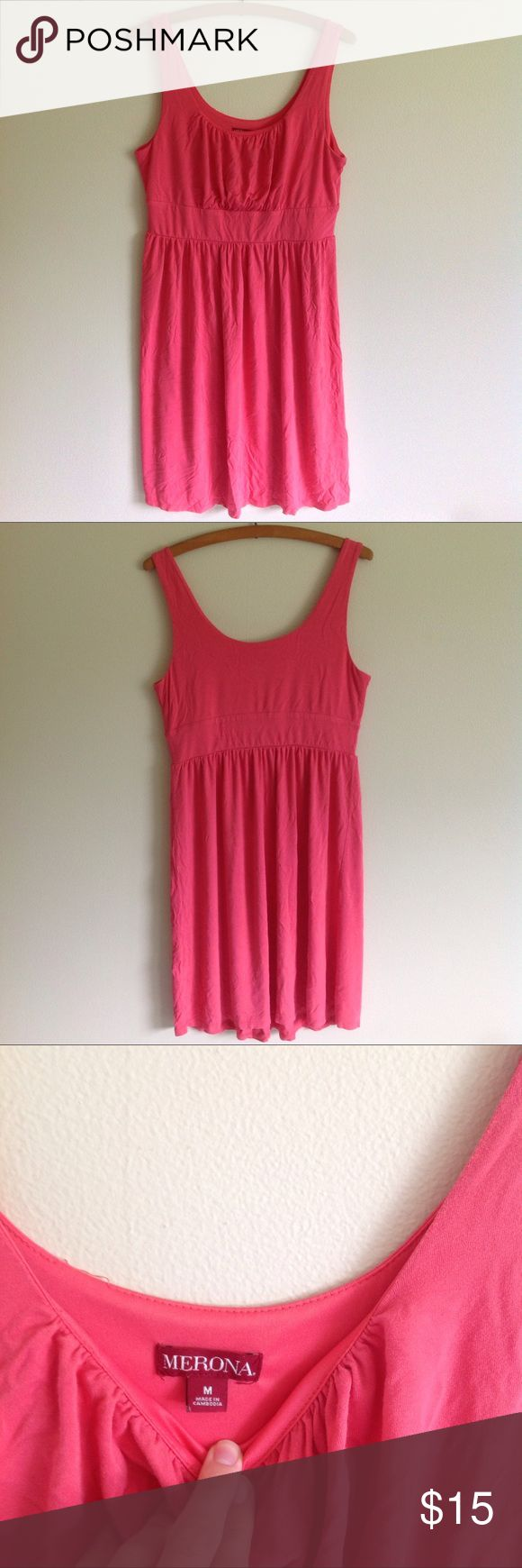 Merona Coral Summer Dress Merona coral summer dress, size medium, excellent condition, perfect for the summer! Merona Dresses Mini