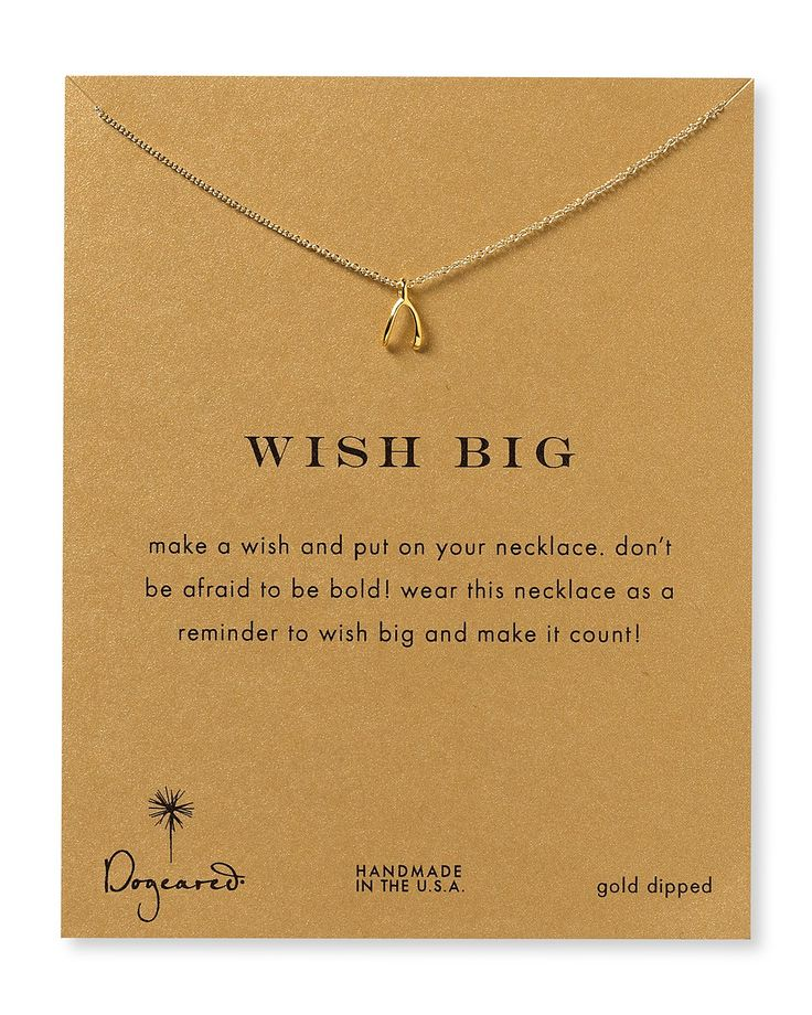 Dogeared Wish Big Necklace, 18"