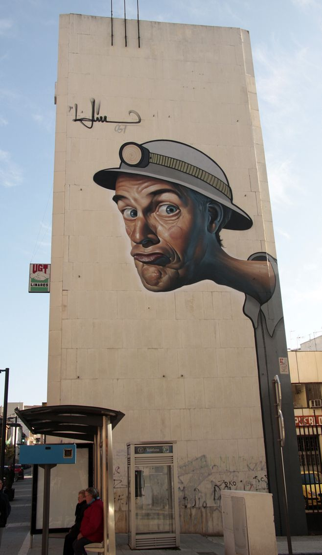 Street Art by Belin  - Reto-Diario-Jaen-Linares ( Spain )