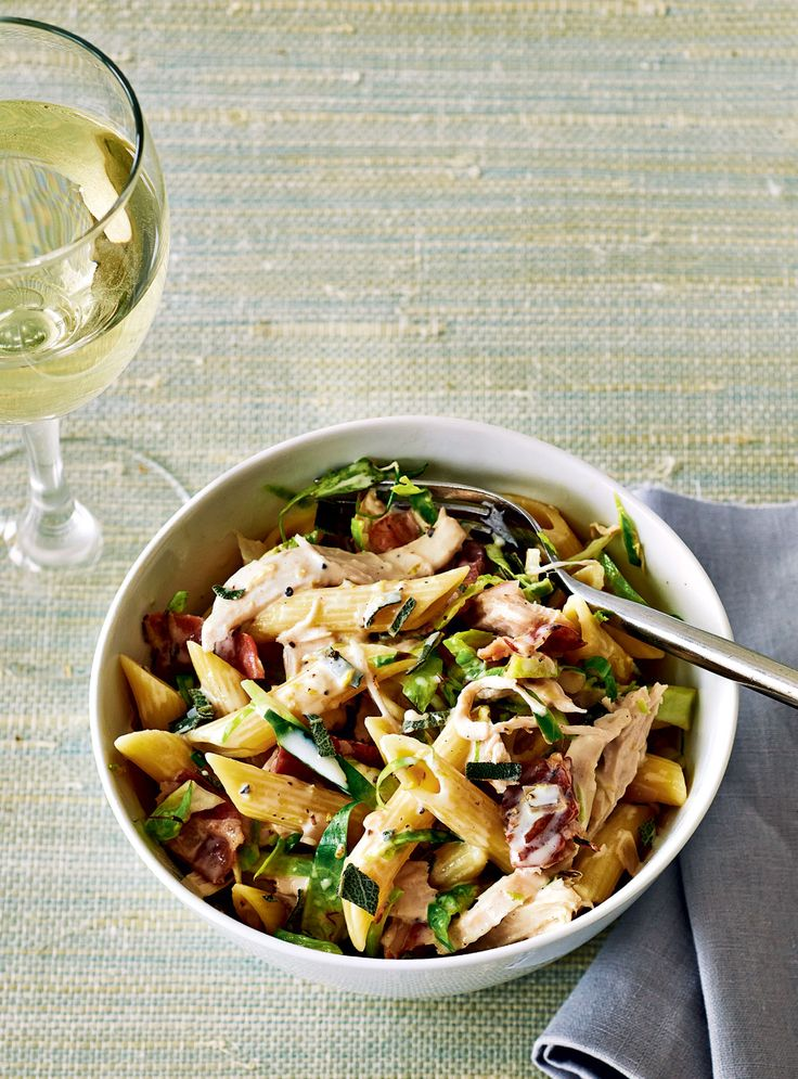 Creamy Turkey Penne With Brussels Sprouts