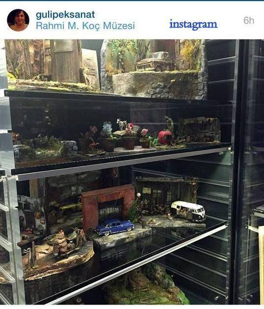 instagram  gulipeksanat By Gül İPEK   #DİORAMA #ART #ARTİST #MUSEUM #istanbul #turkey #miniature #miniaturefood #old #garage #tamirhane